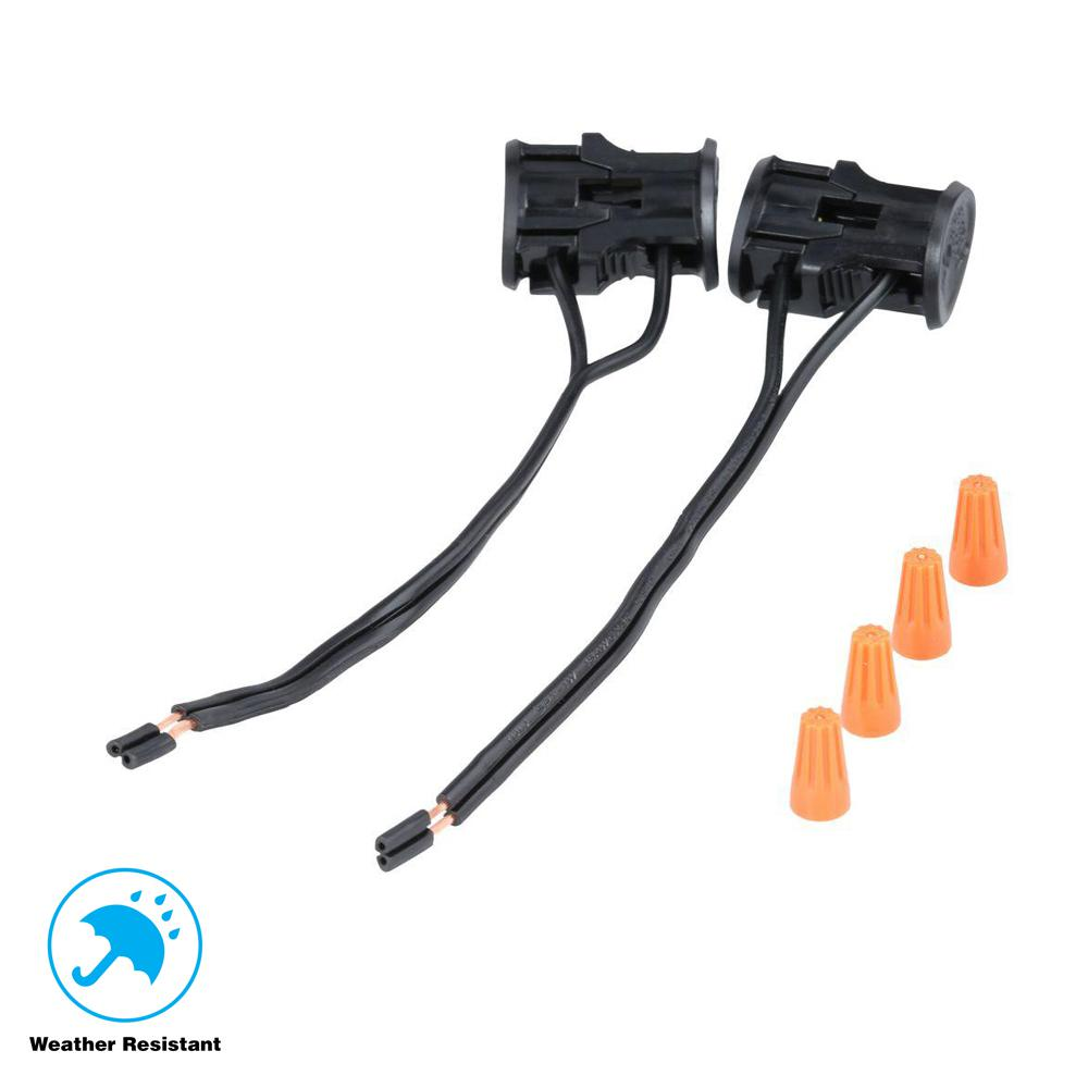 Hampton Bay Low Voltage Black Replacement Cable Connector 2 Pack