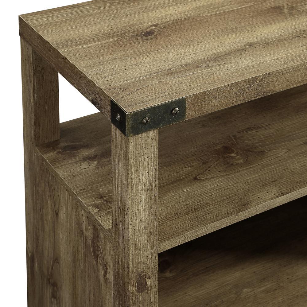 +2. Walker Edison Furniture Company 58 In. Barnwood Barndoor Highboy Console