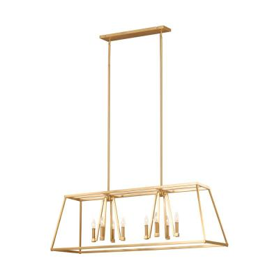 Conant 8-Light Gilded Satin Brass Chandelier