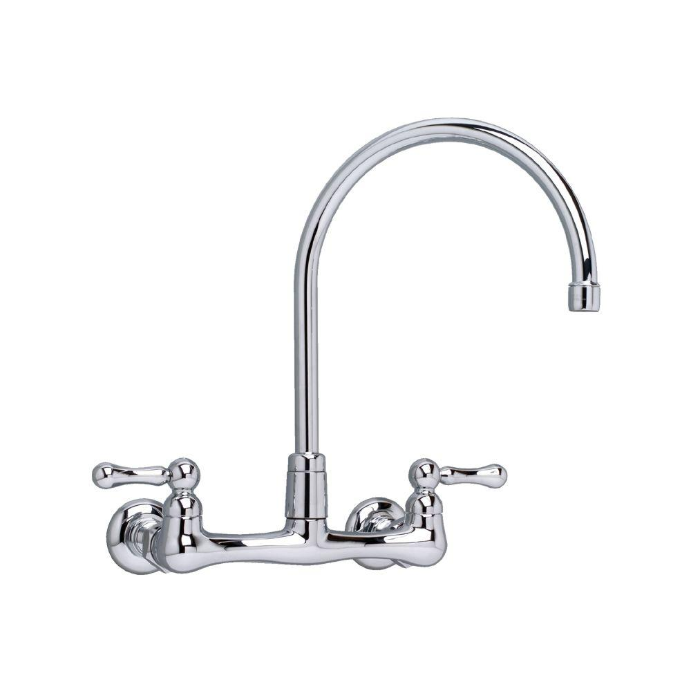 American Standard Heritage Wall Mount 2 Handle Bar Faucet In