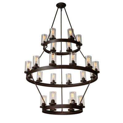 Menlo Park 24-Light Dark Brown Chandelier