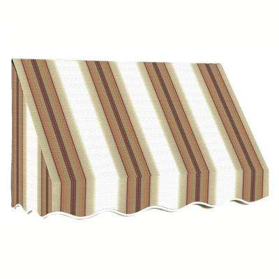 3 ft. San Francisco Window/Entry Awning (44 in. H x 36 in. D) in Yellow/White Stripe