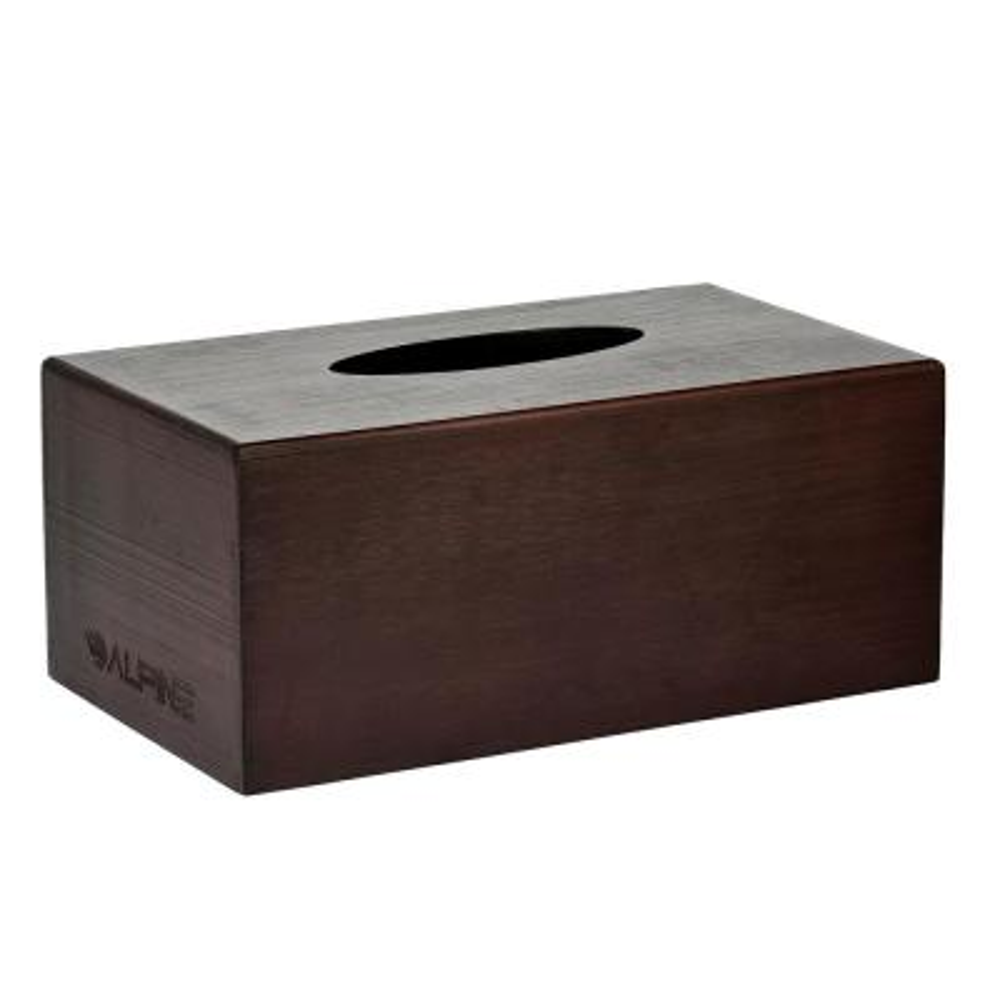 Rectangular Wood Tissue Box Cover Holder in Espresso