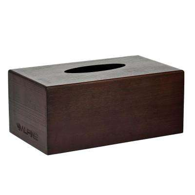 Rectangular Wood Tissue Box Cover Holder in Espresso