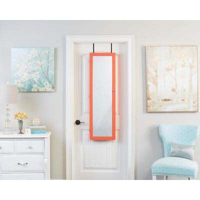 Coral Mirrored Jewelry Armoire
