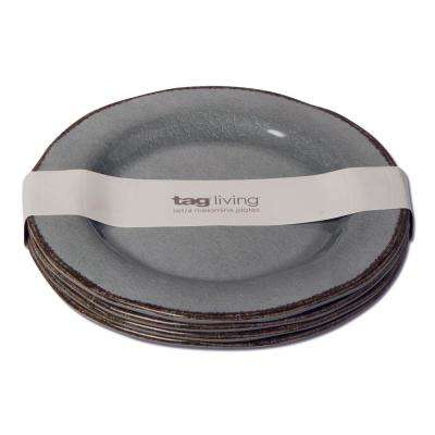 Veranda Slate Blue Melamine Salad Plate (Set of 4)