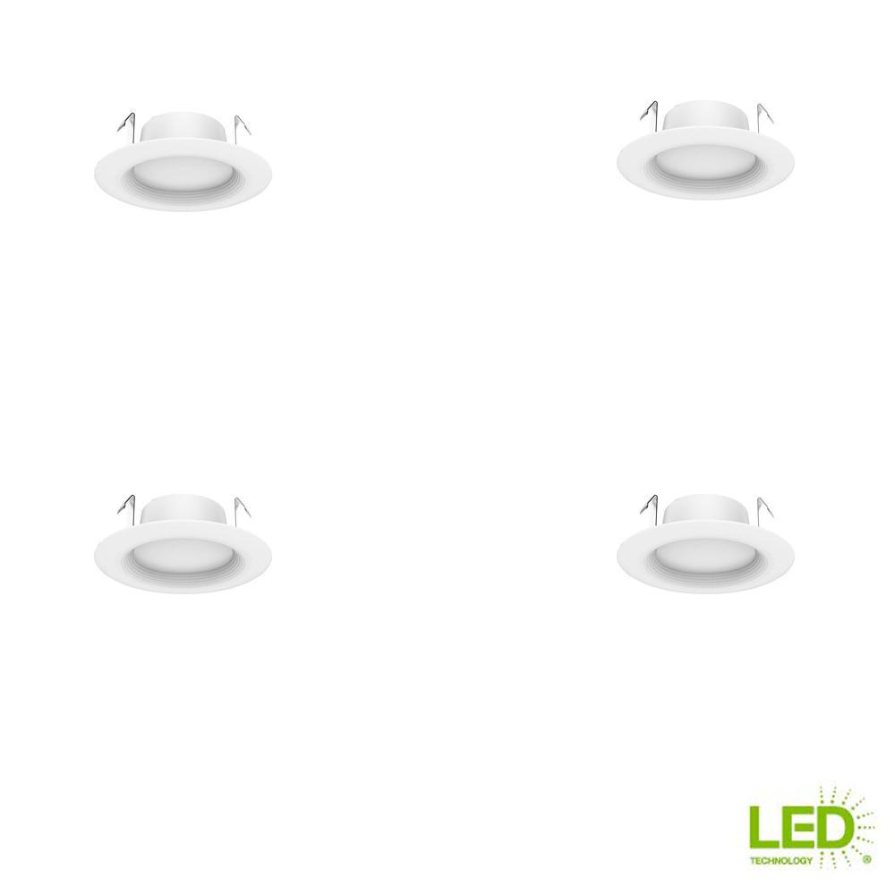 Ecosmart 4 In White Integrated Led Recessed Trim Soft Pack