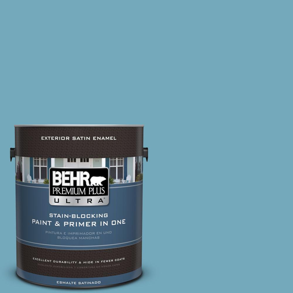 BEHR Premium Plus Ultra 1-gal. #S460-4 Snowboard Satin Enamel Exterior Paint