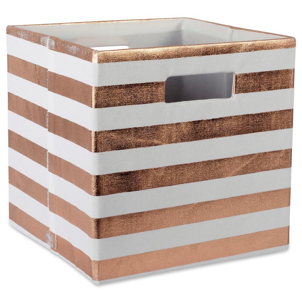 Square Polyester Stripe Storage Cube