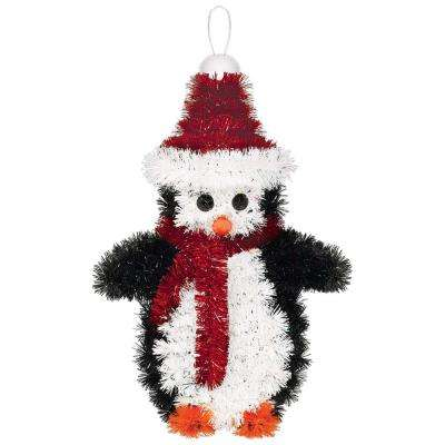 6.75 in. x 4.25 in. Penguin Tinsel Decoration (5-Pack)