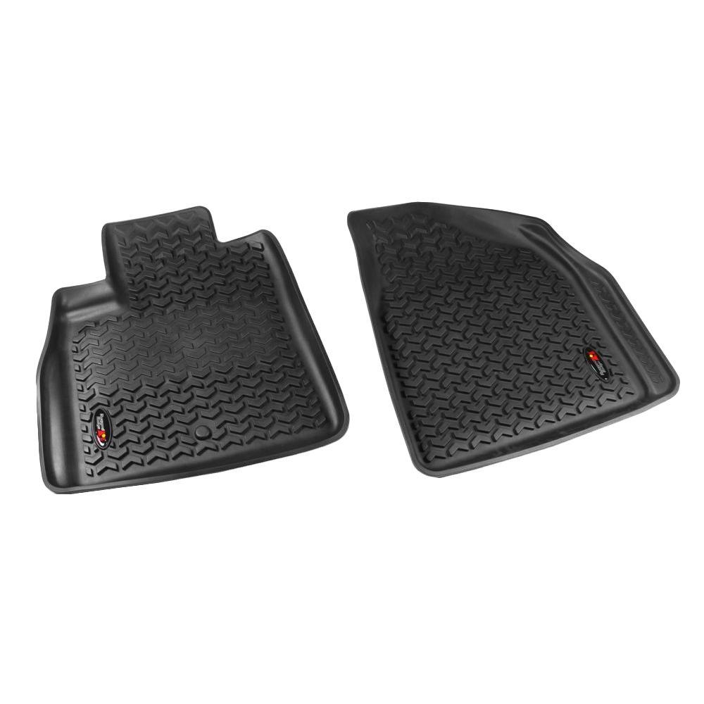 Rugged Ridge Floor Liner Front Pair Black 2007-2014 GM Acadia/Traverse/Enclave