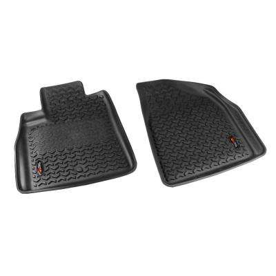 Floor Liner Front Pair Black 2007-2014 GM Acadia/Traverse/Enclave