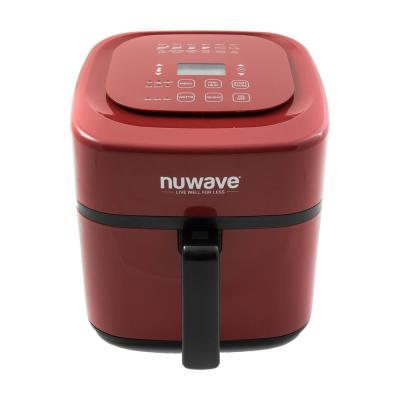 6 Qt. Red Air Fryer with Retractable Cord