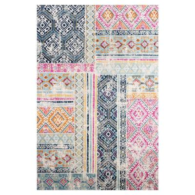 Tangier Distressed 8 ft. x 10 ft. Area Rug in Multicolor