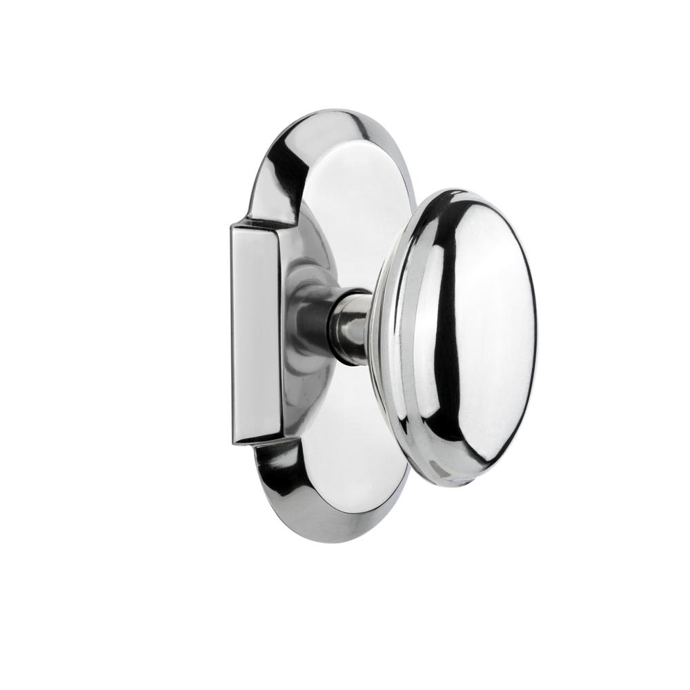 Nostalgic Warehouse Cottage Plate 2 3 4 In Backset Bright Chrome Privacy Bed Bath Homestead Door Knob 714626 The Home Depot