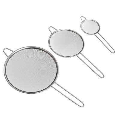 Stainless Strainers (Set of 3)