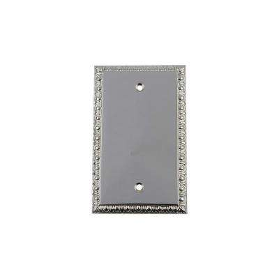 Egg and Dart Switch Plate with Blank Cover in Bright Chrome