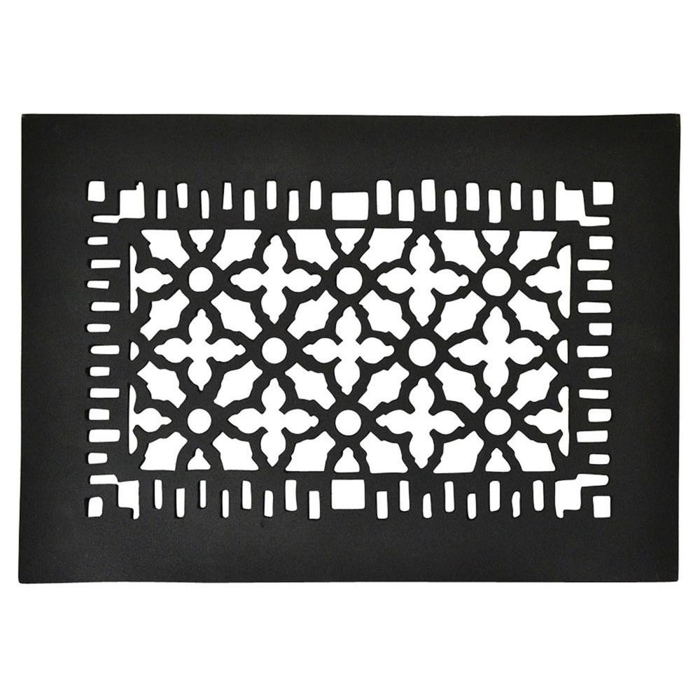 Copper Mountain Hardware 12 in. x 8 in. Cast Iron Grille