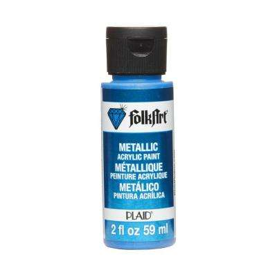 2 oz. Blue Sapphire Metallic Craft Paint