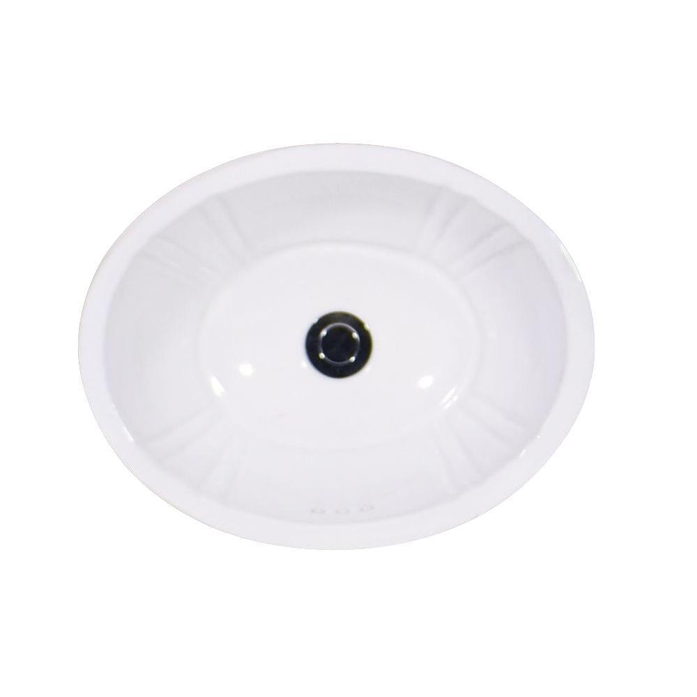 St. Thomas Creations Antigua Petite Drop-In Bathroom Sink in White