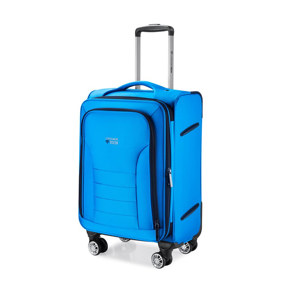 luggage tech melbourne collection 20 in smart luggage blue slg