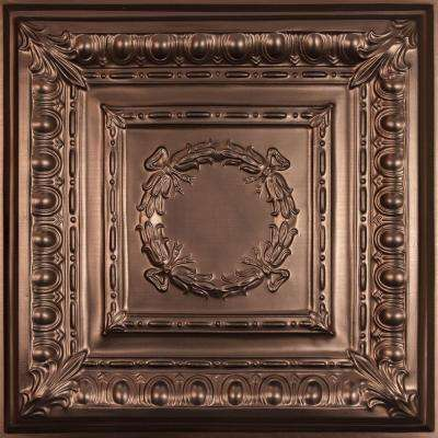 Empire Faux Bronze 2 ft. x 2 ft. Lay-in or Glue-up Ceiling Panel (Case of 6)