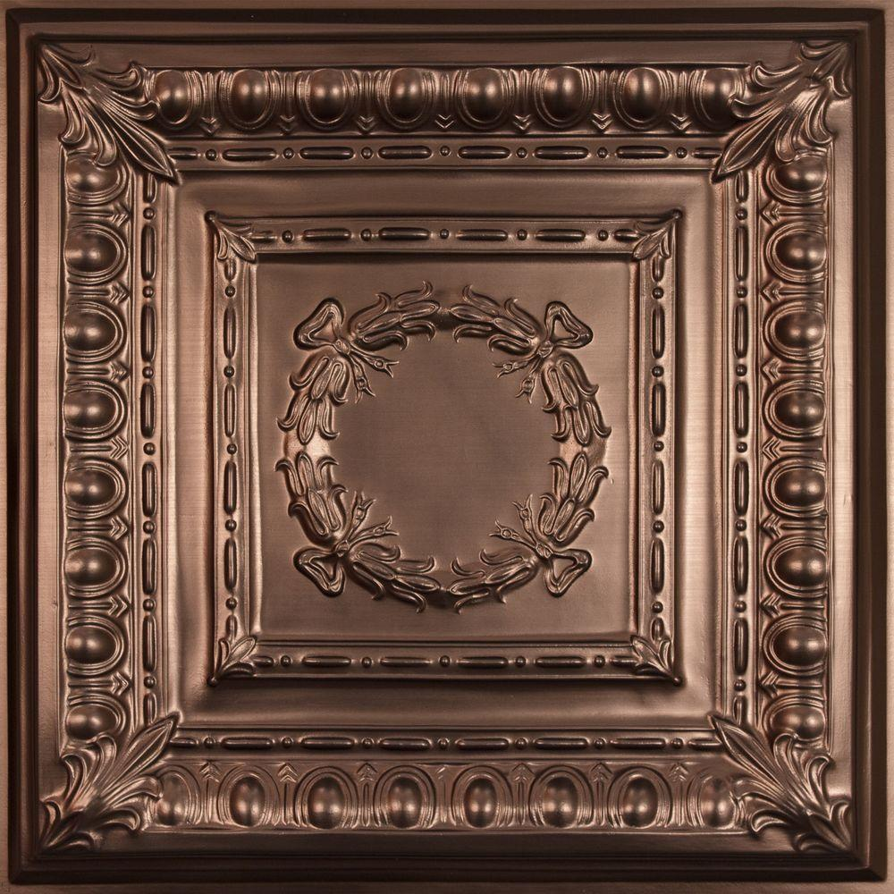 Ceilume Empire Faux Bronze Evaluation Sample, Not suitable for installation - 2 ft. x 2 ft. Lay-in or Glue-up Ceiling Panel