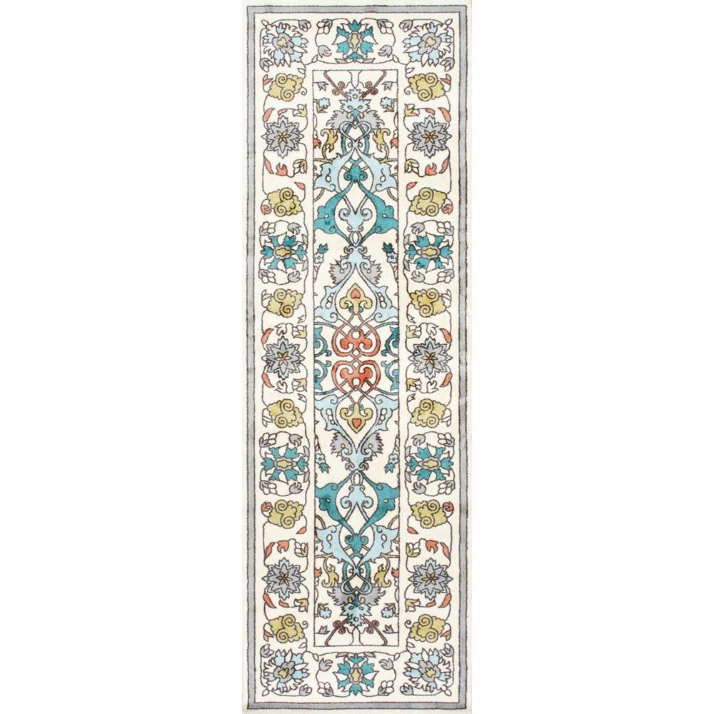Nuloom Crandall Turquoise 7 Ft 10 In X 9 Ft 6 In Area: NuLOOM Floral Janise Multi 3 Ft. X 8 Ft. Runner Rug
