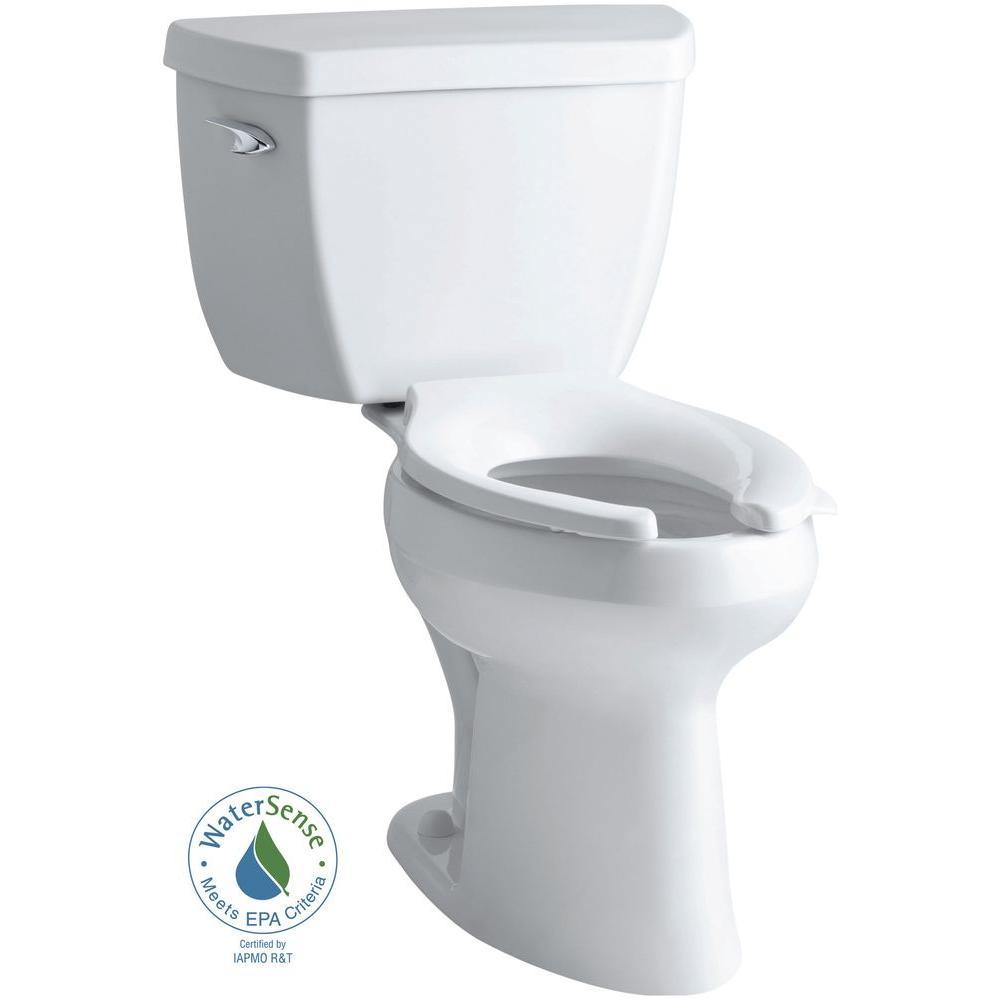 KOHLER Highline Classic Comfort Height 2-piece 1.0 GPF Single Flush Elongated Toilet in White