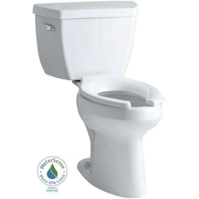 Highline Classic Comfort Height 2-piece 1.0 GPF Single Flush Elongated Toilet in White