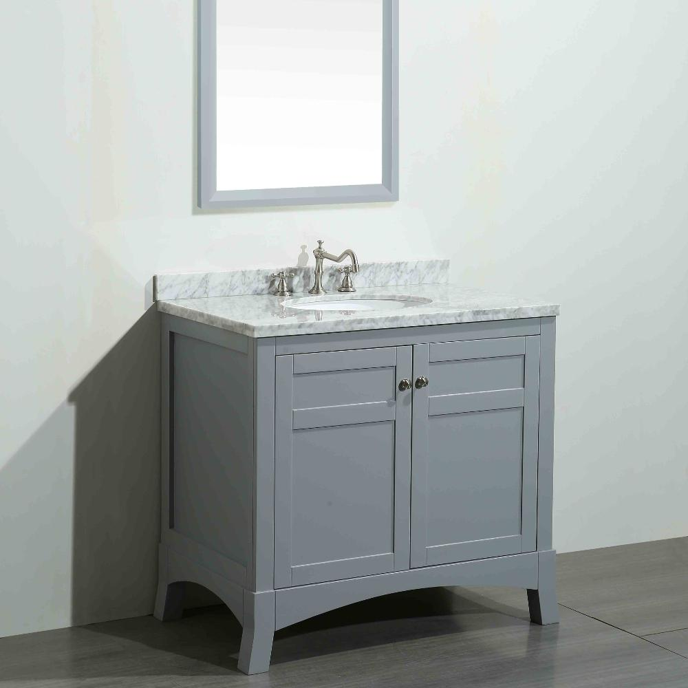 Eviva new york 36 in w x 22 in d x 34 in h vanity in for Bathroom cabinets york