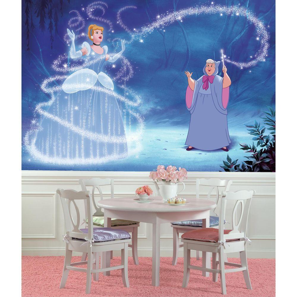 roommates 72 in x 126 in disney princess cinderella magic xl chair