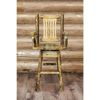 Montana Woodworks Glacier Country 30 inch Medium Brown Puritan Pine Swivel Bar Stool