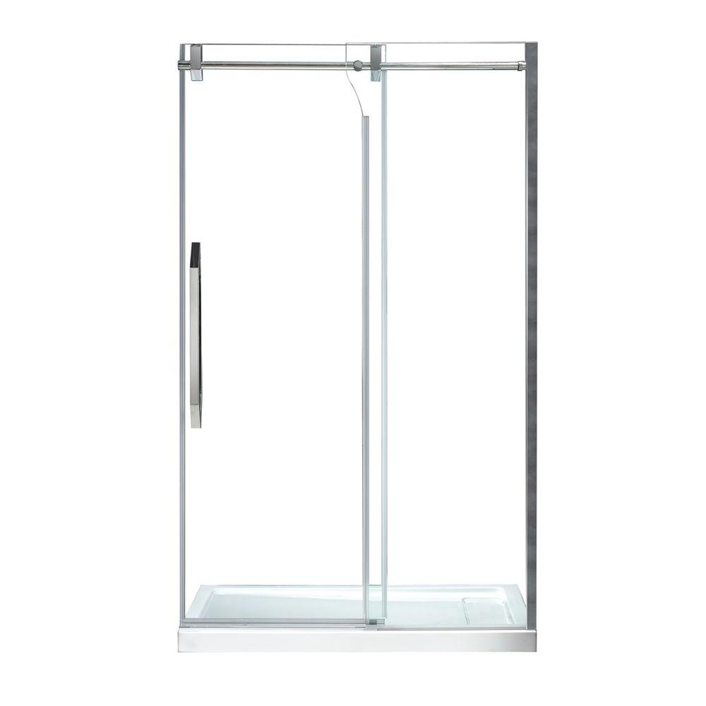 Schon Antigua 48 In X 78 74 In Frameless Sliding Shower