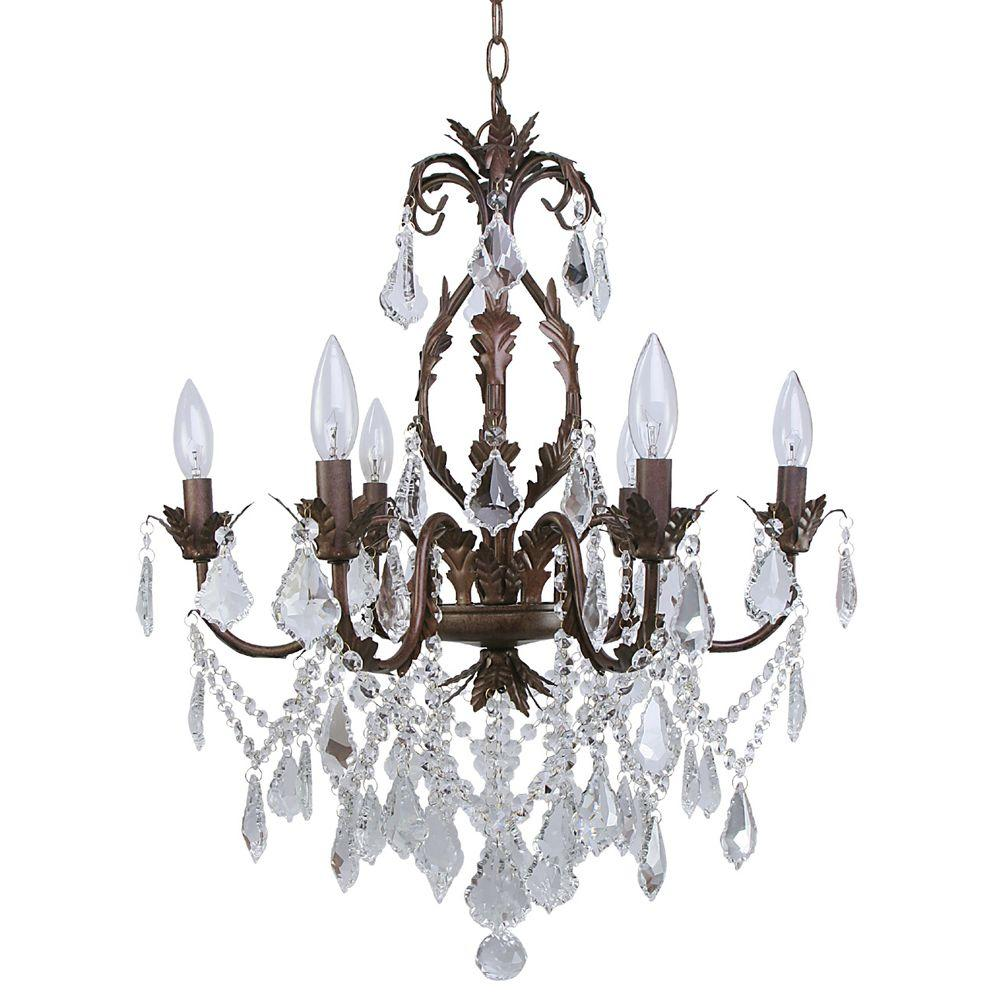 Roxy Lighting Heritage 6-Light Bronze/Copper Chandelier  sc 1 st  The Home Depot & Roxy Lighting Heritage 6-Light Bronze/Copper Chandelier-88054/6 ... azcodes.com