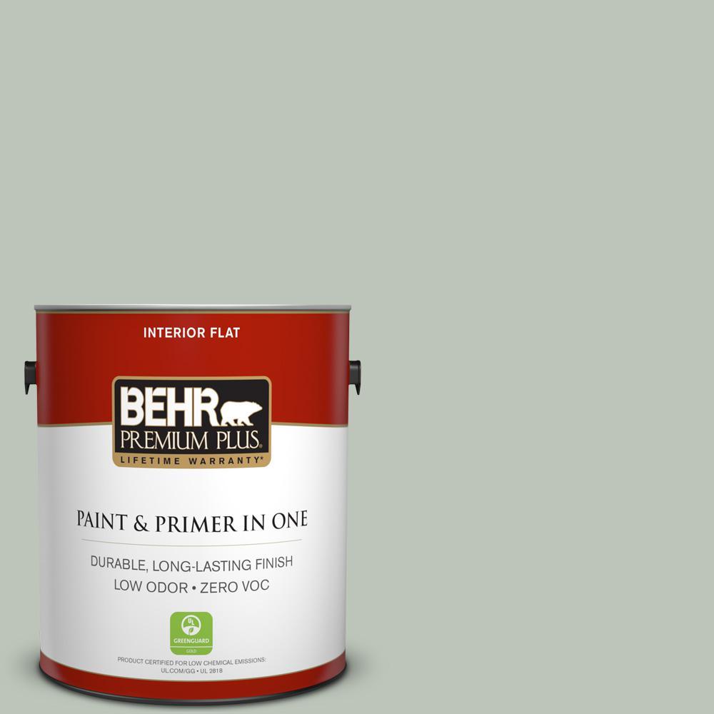BEHR Premium Plus 1-gal. #N410-3 Riverdale Flat Interior Paint
