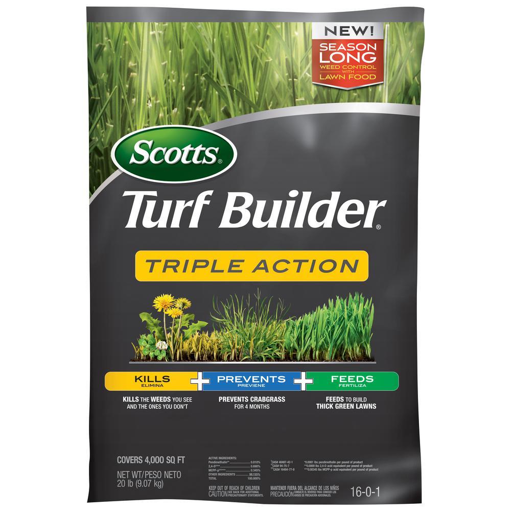 Turfbuilder 4M 20.07 lb. Triple Action Fertilizer