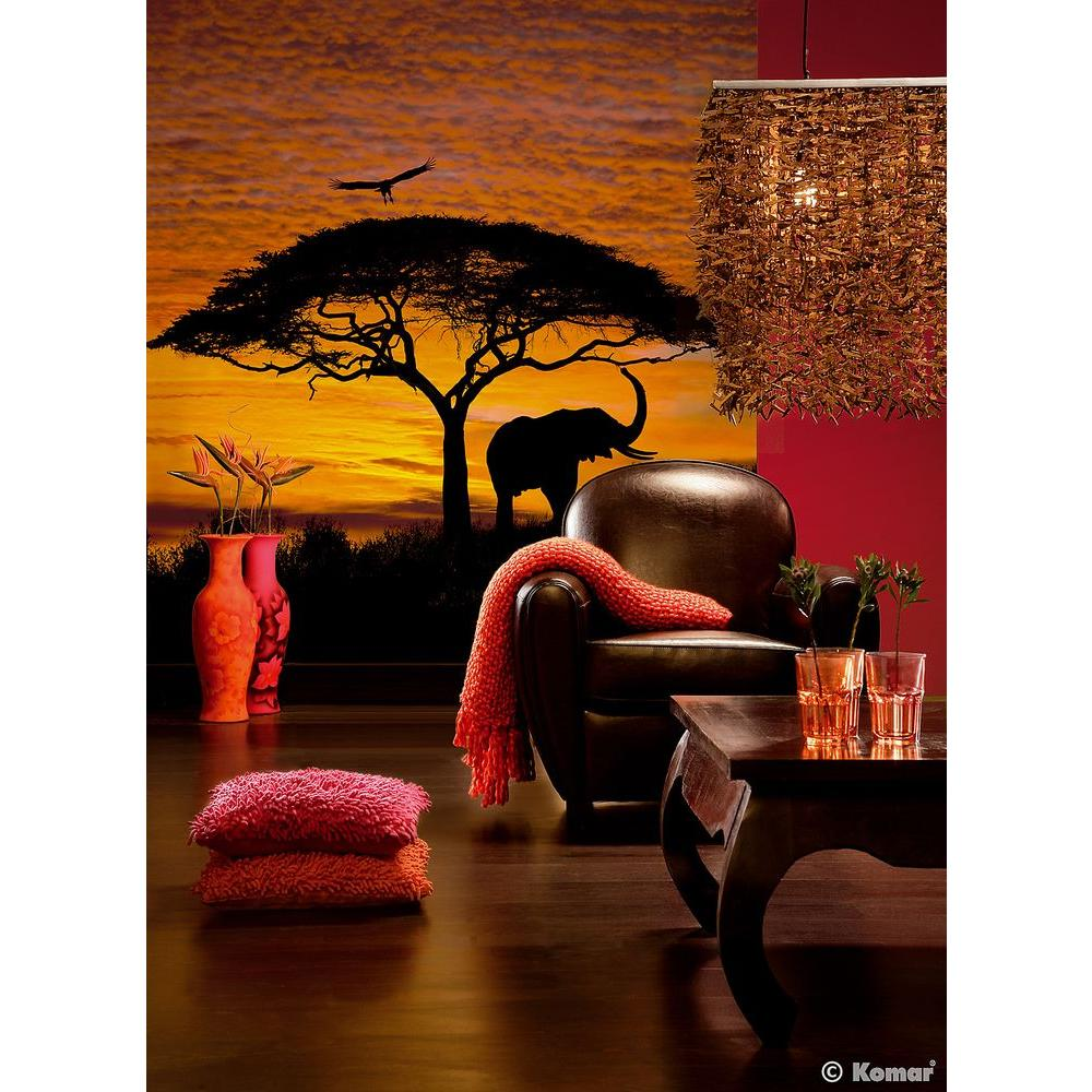National Geographic 106 in. x 76 in. African Sunset Wall Mural