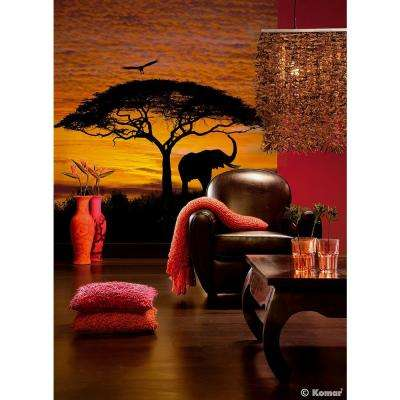 106 in. x 76 in. African Sunset Wall Mural