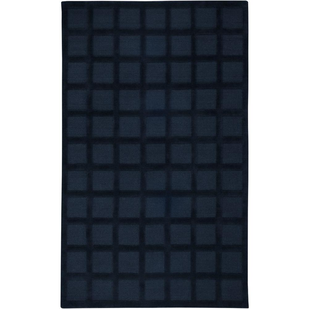 rizzy home galaxy navy blue 3 ft x 5 ft area rug