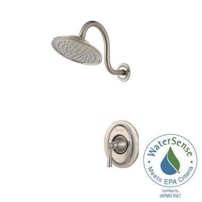 Saxton Single-Handle Shower Faucet Trim Kit in Brushed Nickel (Valve Not Included)