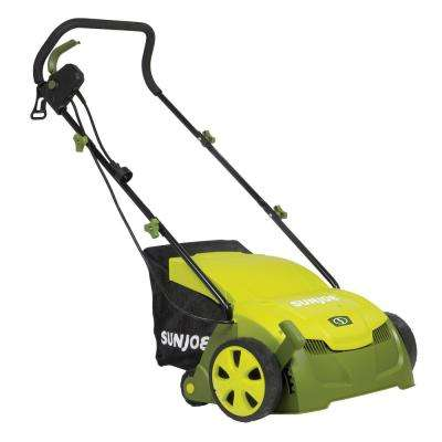 13 in. 12 Amp Electric Scarifier Plus Lawn Dethatcher with Collection Bag