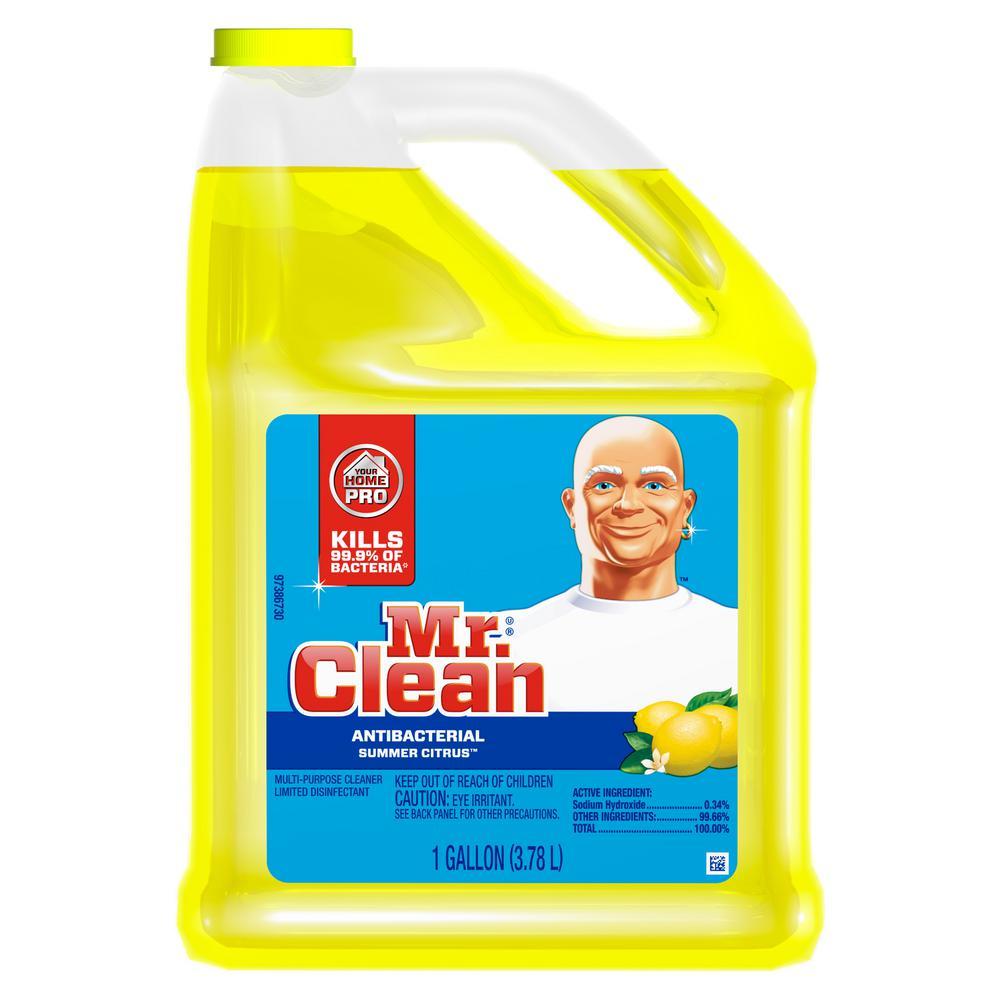 128 oz. Multi-Surfaces Antibacterial Liquid Cleaner Summer Citrus Scent
