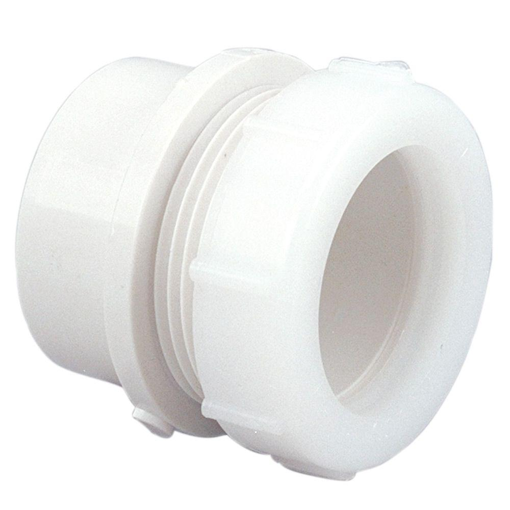 In pvc dwv trap adapter c hd the home depot
