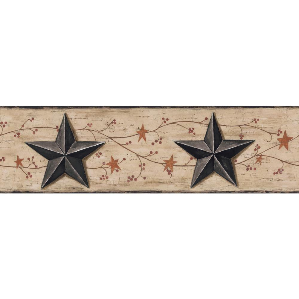 York Wallcoverings Inspired By Color Country Barn Star