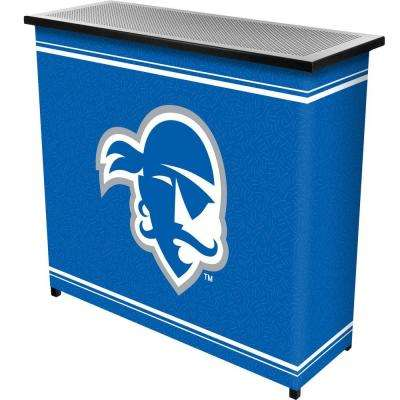 Seton Hall University 2-Shelf Black Bar with Case