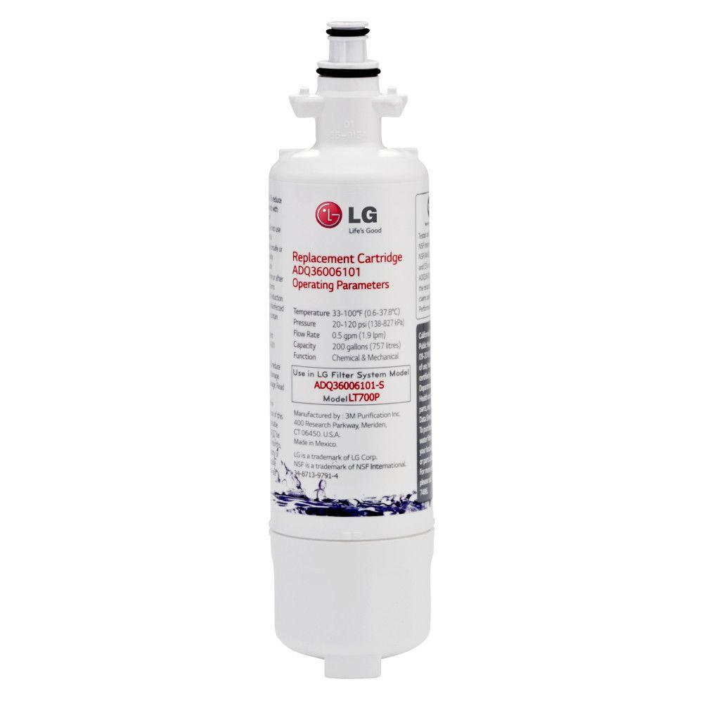 LG Electronics Refrigerator Water Filter Ensure your drinking water stays fresh and clean with this LG Electronics Water Filter for select LG refrigerators. The filter should be replaced every 6 months for optimal results. The filter is easy to change, too.