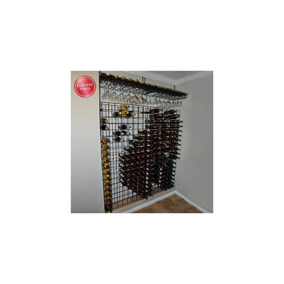 144-Bottle Black Floor Wine Rack
