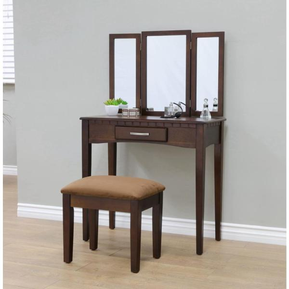 Homecraft Furniture 3 Piece Espresso Vanity Set Mh206 The