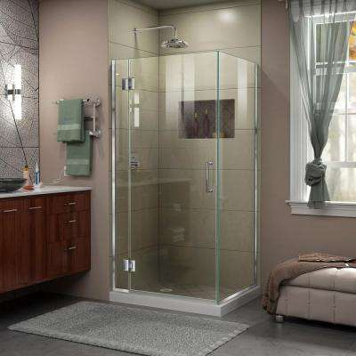 30 36 Square Frameless Shower Doors Showers The Home Depot